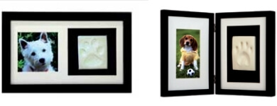Kit cadre-photo animal avec empreinte
