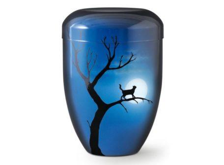urne chat bleue