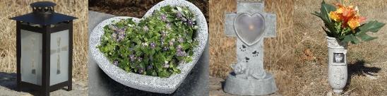 Vases et lanternes funéraires