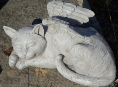 "Statuette chat ""ange"""