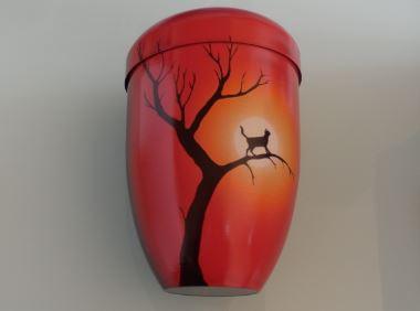 urne chat sur arbre clair de lune. Black Bedroom Furniture Sets. Home Design Ideas