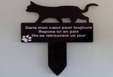 Plaque tombe chat