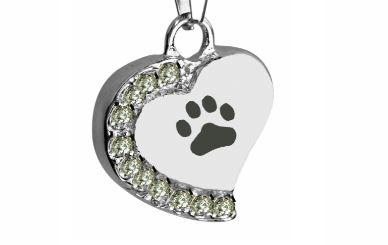 urne pendentif coeur chat chien