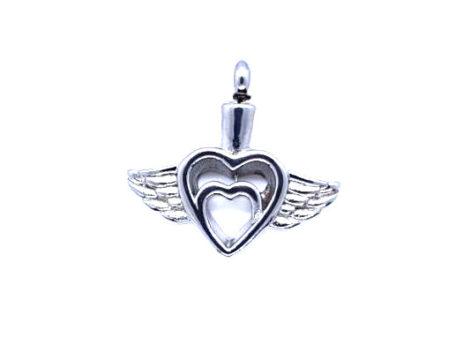 pendentif double coeur ailes