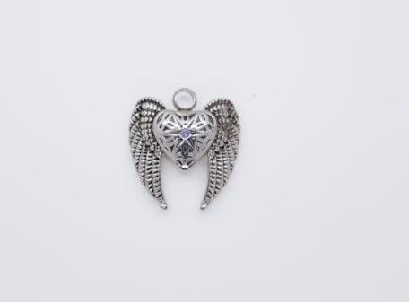 pendentif coeur ailes