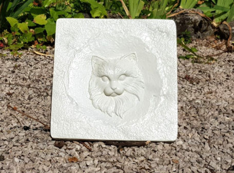 Plaque tombale décorative chat