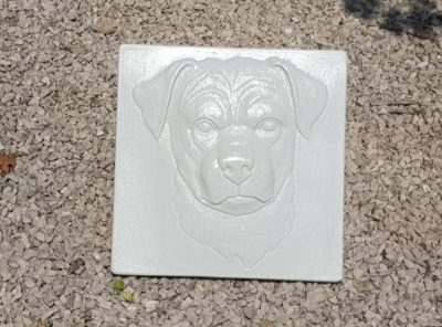 "Plaque tombale décorative ""Rottweiler"""