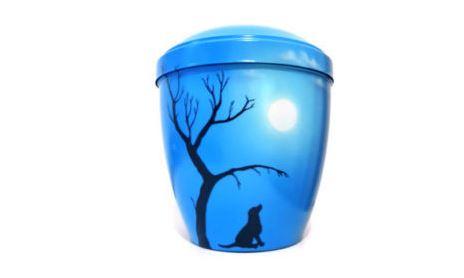 urne chien clair de lune