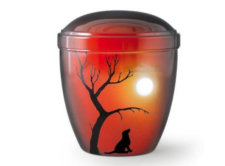 urne chien cuivre clair lune